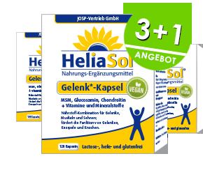 Gelenk*-Kapsel HeliaSol® – VEGAN 3+1 Einführungsangebot